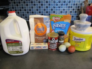 Ingredients for cinnamon graham scones
